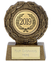 "2019 Resin Mini Star Laurel Wreath Trophy 6.5cm (2.5"")"