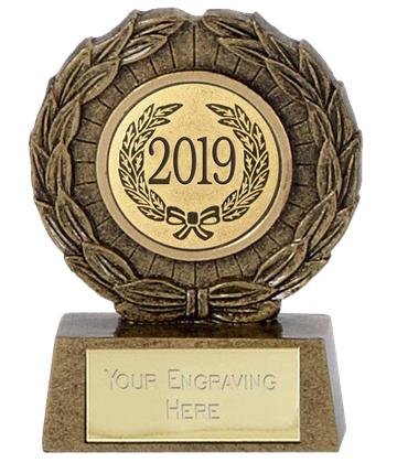 "2019 Resin Mini Star Laurel Wreath Trophy 6.5cm (2.5"")"