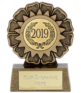 "2019 Resin Mini Star Rosette Trophy 6.5cm (2.5"")"