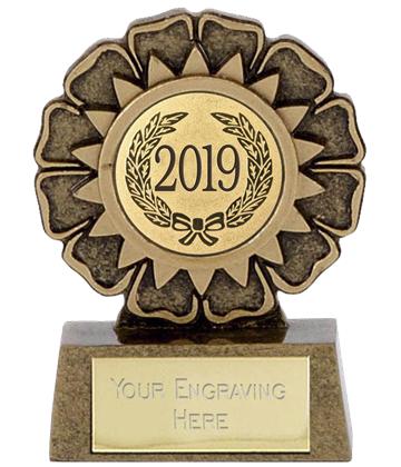 """2019 Resin Mini Star Rosette Trophy 6.5cm (2.5"""")"""