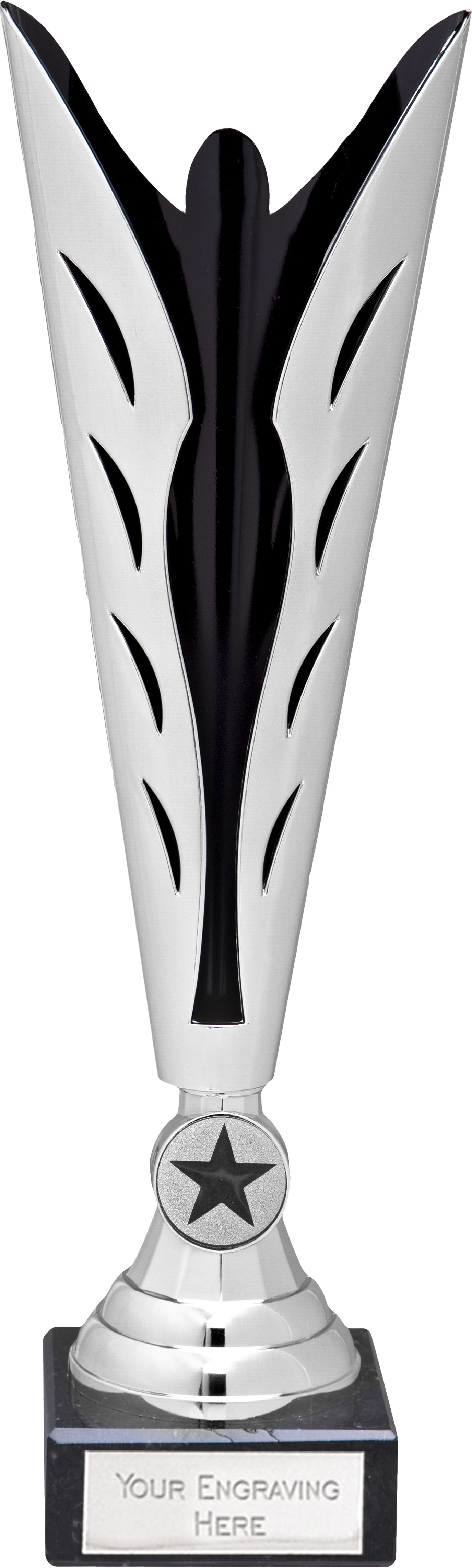 "Silver and Black Achievement Trophy Cup 30.5cm (12"")"