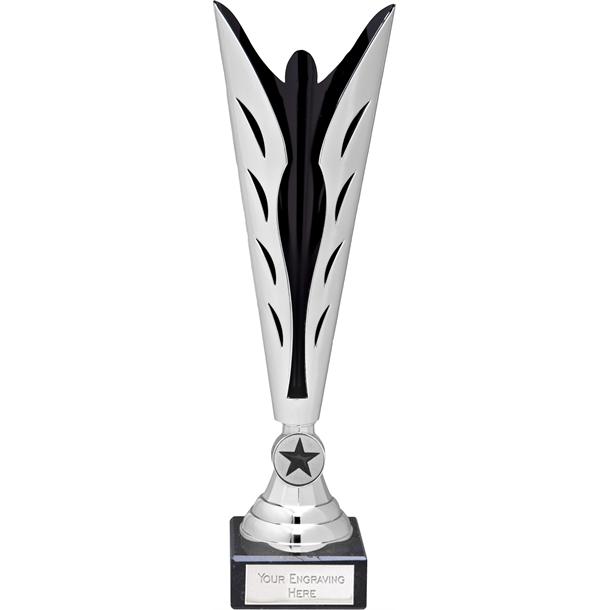Silver and Black Achievement Trophy Cup 35cm (13.75)