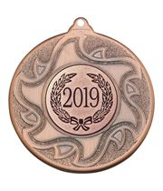 "2019 Bronze Sunburst Star Patterned Medal 50mm (2"")"
