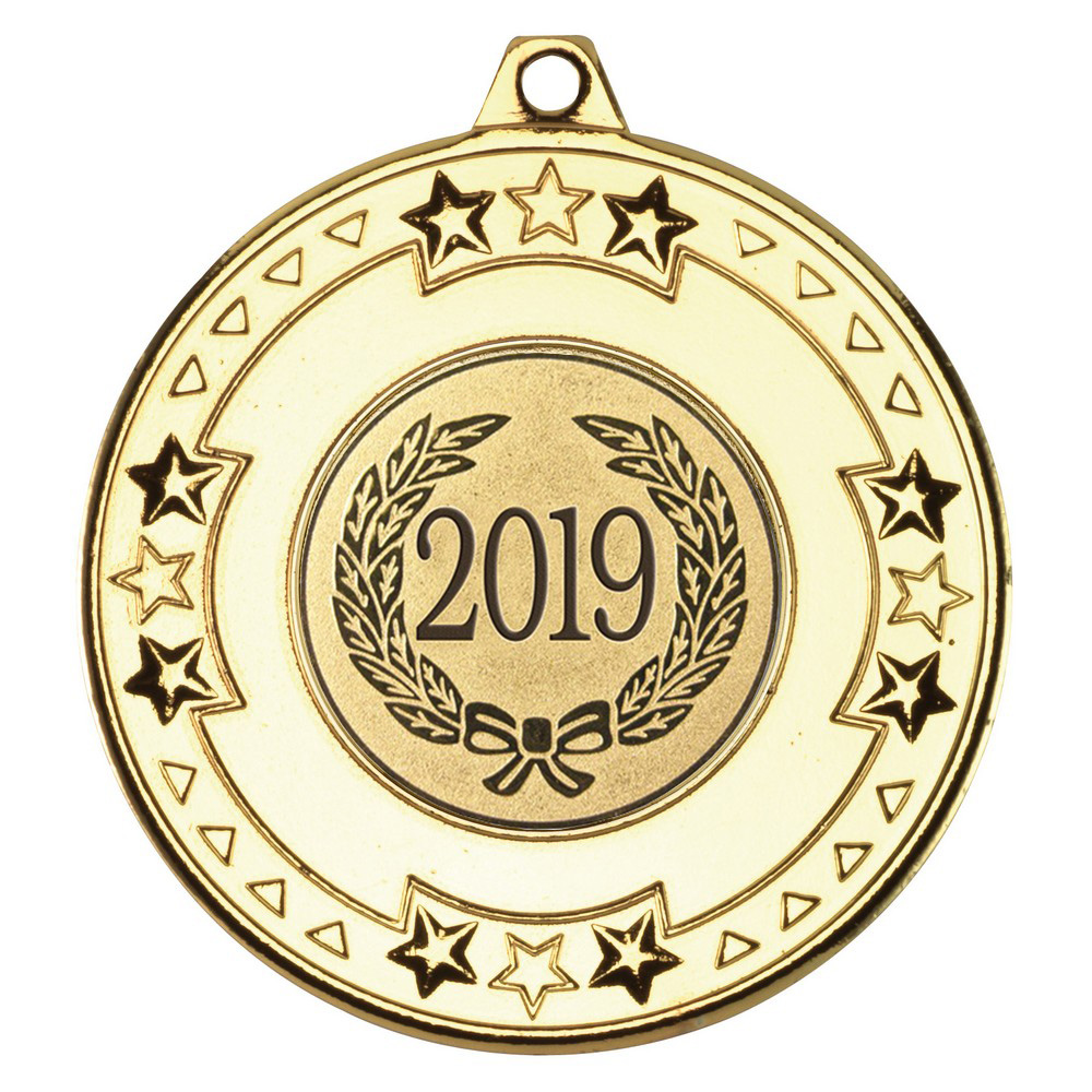 "2019 Gold Star & Pattern Medal 50mm (2"")"