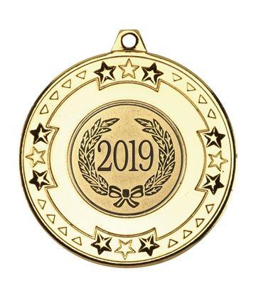 "2019 Gold Star & Pattern Medal 50mm (2"")"
