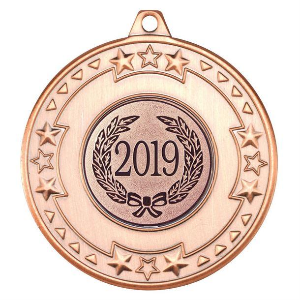 "2019 Bronze Star & Pattern Medal 50mm (2"")"