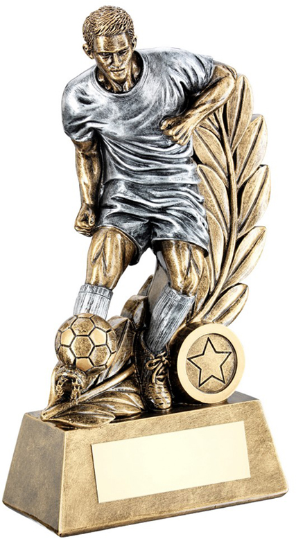"Control Wreath Male Football Trophy 15cm (6"")"