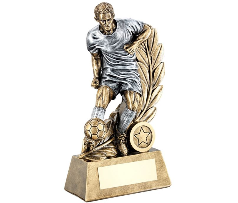 "Control Wreath Male Football Trophy 18.5cm (7.25"")"