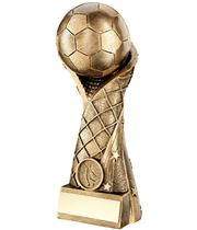 """Superstar Goal Wrapped Football Trophy 18cm (7"""")"""