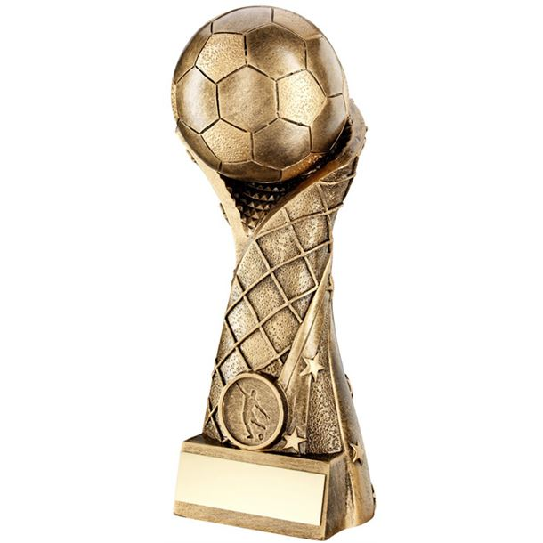 "Superstar Goal Wrapped Football Trophy 18cm (7"")"