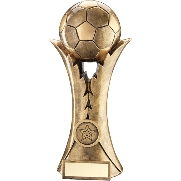 "Laurel Wreath Victory Football Trophy 15cm (6"")"