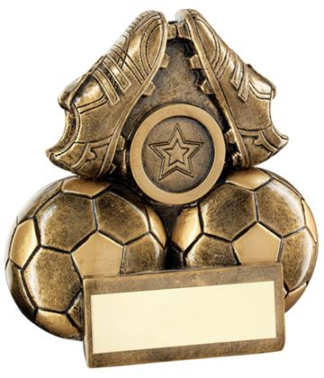 "Pair Of Football Boots Trophy 9.5cm (3.75"")"