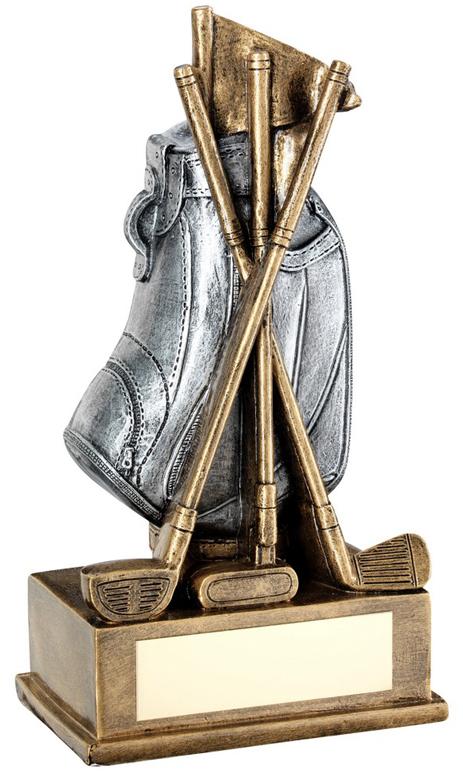 """Golf Bag & Clubs Trophy 14.5cm (5.75"""")"""
