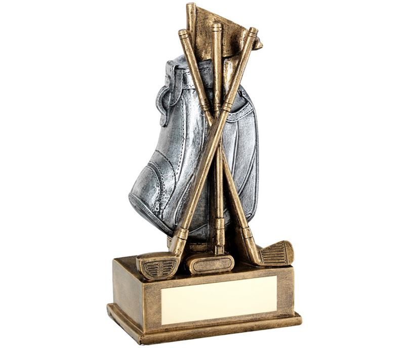 "Golf Bag & Clubs Trophy 18cm (7"")"
