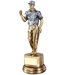 "Male Figure Golf Celebration Trophy 26cm (10.25"")"
