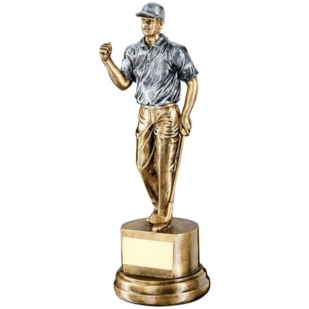 "Male Figure Golf Celebration Trophy 26cm (10.25"")"