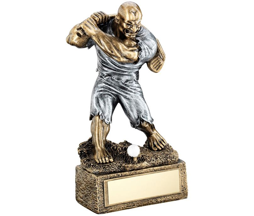"Novelty 'The Beast' Golf Trophy 17cm (6.75"")"