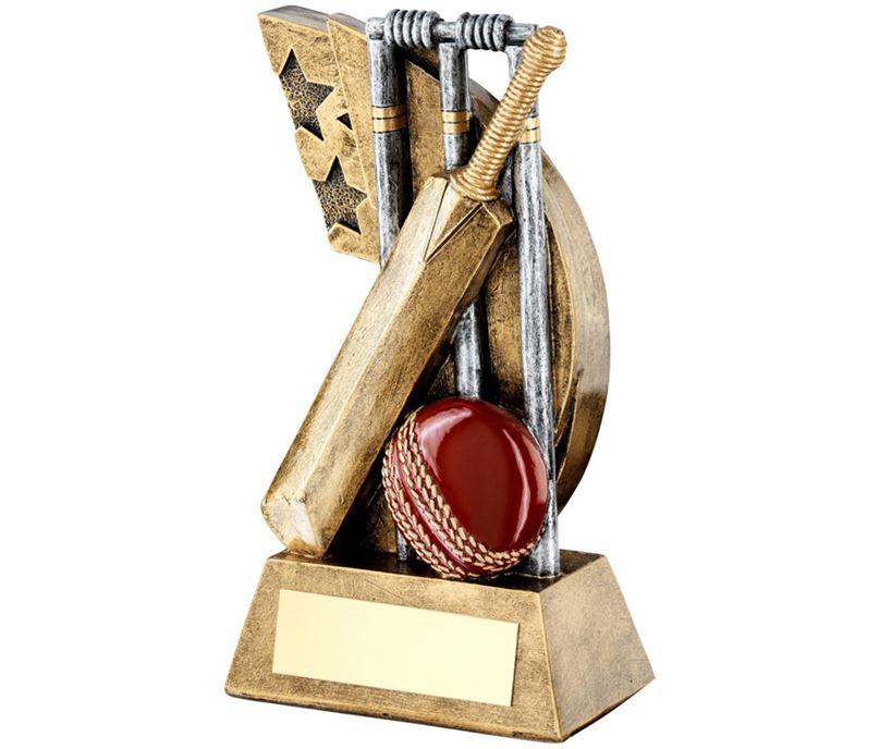 "Cricket Bat & Ball Shooting Star Trophy 13.5cm (5.25"")"