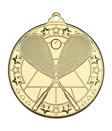 "Gold Squash Tri Star Medal 50mm (2"")"