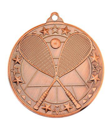 "Bronze Squash Tri Star Medal 50mm (2"")"