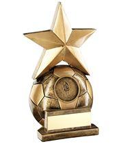 "Football & Star Combo Trophy 14.5cm (5.75"")"
