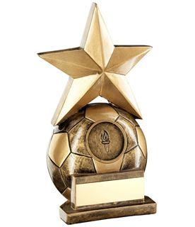 "Football & Star Combo Trophy 17cm (6.75"")"