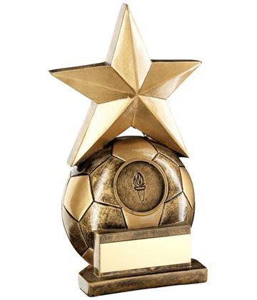 "Football & Star Combo Trophy 17cm (6.75"")"