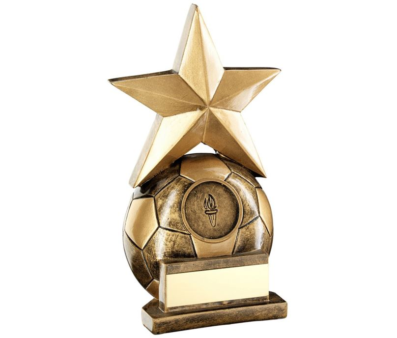 "Football & Star Combo Trophy 14.5cm (5.75"")"