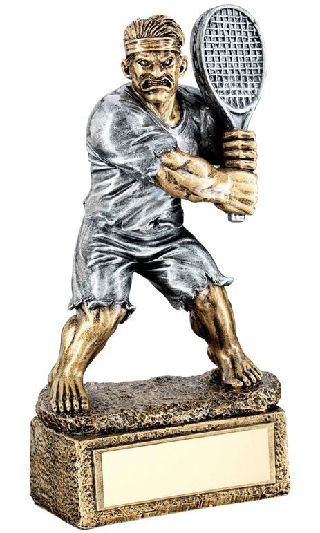 "Novelty 'The Beast' Tennis Trophy 15cm (6"")"