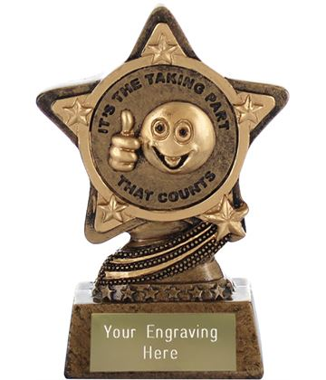 "Participation Trophy by Infinity Stars 10cm (4"")"