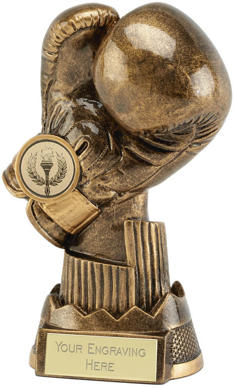 "Boxing Glove Trophy Apex 17cm (6.75"")"