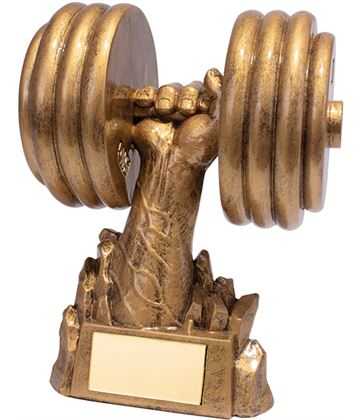 """Power Weights Gym Fitness Trophy 17cm (6.75"""")"""
