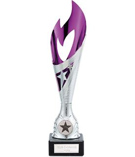 "Dance Flame Trophy Silver & Pink 26.5cm (10.5"")"