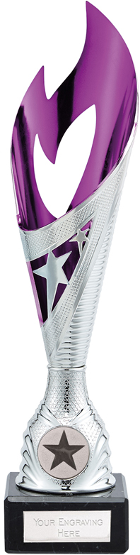 """Dance Flame Trophy Silver & Pink 28.5cm (11.25"""")"""