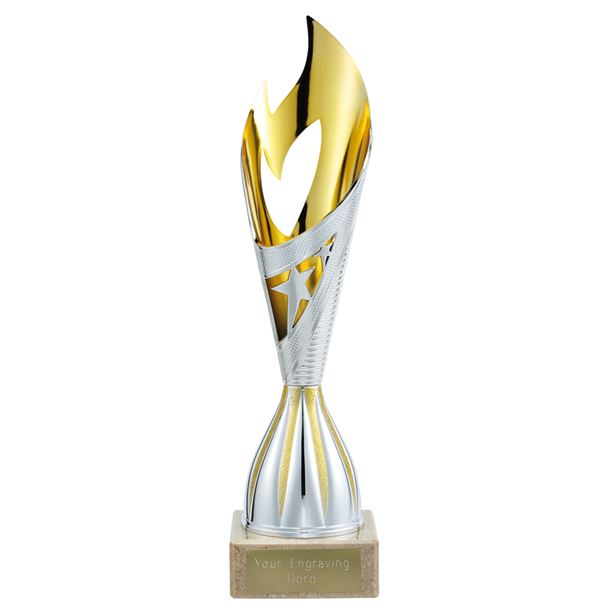 """Dance Flame Trophy Silver & Gold 29cm (11.5"""")"""