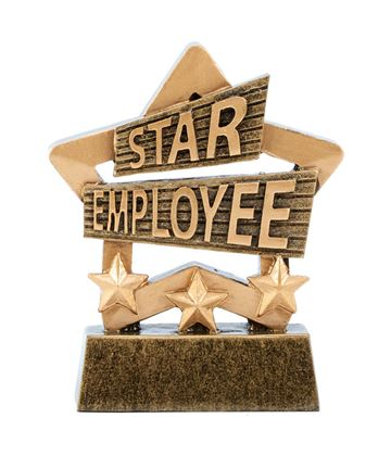 "Star Employee Mini Star Trophy 8.5cm (3.25"")"