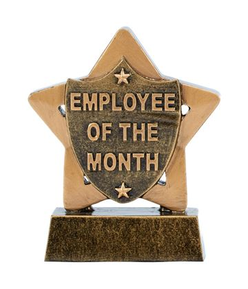 "Employee Of The Month Mini Star Trophy 8.5cm (3.25"")"