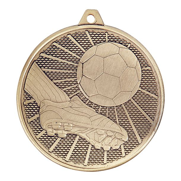"Football Formation Medal Gold 50mm (2"")"