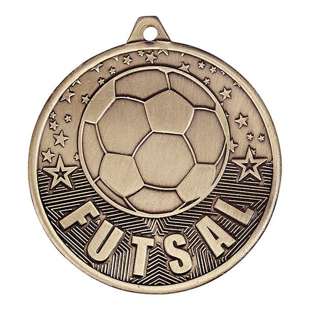 """Futsal Medal Gold 50mm (2"""")"""