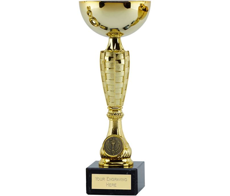 "Gold Trophy Cup Chequer 21.5cm (8.5"")"