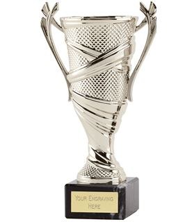 "Trophy Cup On Marble Base Reno Silver 16cm  (6.25"")"