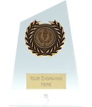 "Elite Peak Laurel Wreath Glass Plaque Award 12.5cm (5"")"