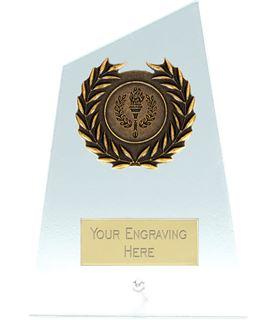 """Elite Peak Laurel Wreath Glass Plaque Award 15.5cm (6"""")"""