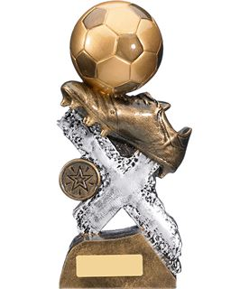 "Extreme Football Boot & Ball Trophy 13cm (5.25"")"