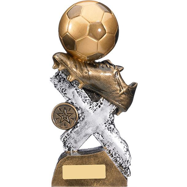 "Extreme Football Boot & Ball Trophy 21cm (8.25"")"