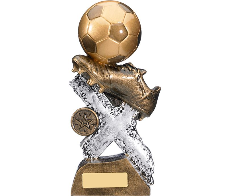 "Extreme Football Boot & Ball Trophy 19cm (7.5"")"
