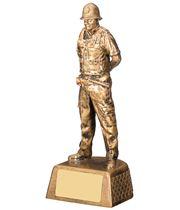 "Policeman Figure Trophy 18.5cm (7.25"")"