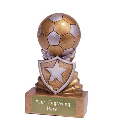 Mini Football Shield Trophy 9.5cm (3.75)