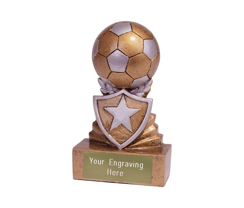 Mini Football Shield Trophy 9.5cm (3.75)