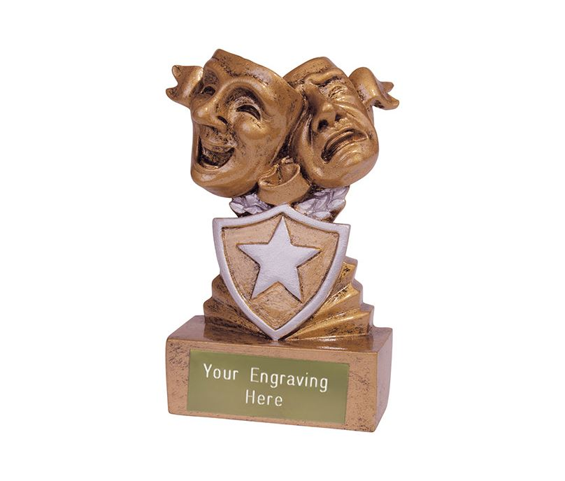 Mini Drama Shield Trophy 9.5cm (3.75)